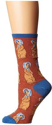 On Socksmith Living A Prairie (Burnt Orange Heather) Women's Crew Cut Socks Shoes