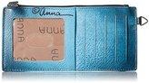 Anuschka Handpainted Leather Lonesome Bird Denim Wallet