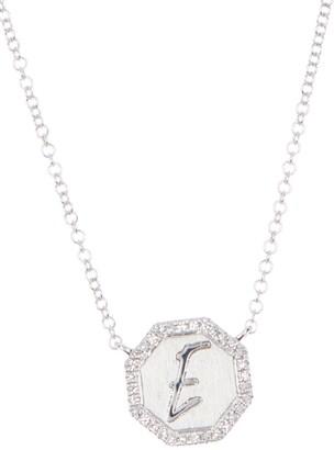 Ron Hami 14K White Gold Diamond Octagon Necklace - 0.07 ctw