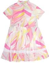 Emilio Pucci Kids Lace-trimmed cotton dress