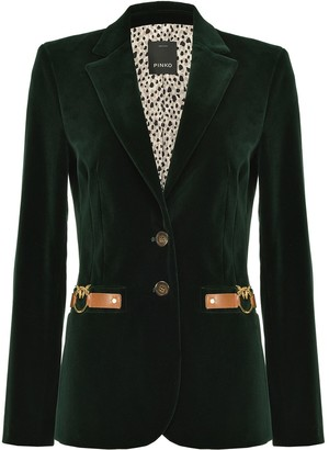 Pinko Fitted Single-Breasted Blazer