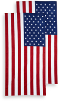 American Flag Terry Velour Beach Towel (Set of 2)