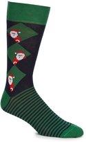 Daniel Cremieux Peeking Santa Crew Dress Socks