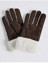 M&S Collection Faux Fur Shearling Gloves