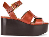Chloé Candice Platform Sandals in Sepia Brown | FWRD