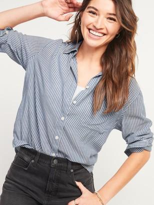 Old Navy Oversized Boyfriend Striped Tunic Shirt for Women