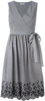 P.A.R.O.S.H. striped wrap dress - women - Cotton/Polyamide/Spandex/Elastane - S