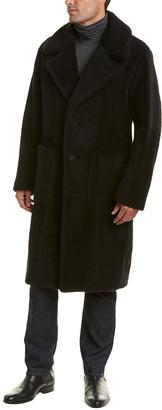 Sanyo Blueflag Sanyo Bluefrog Tailored Wool & Alpaca-Blend Coat