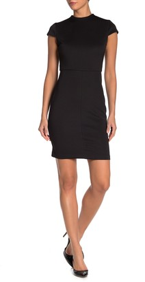 Alexia Admor Aubree Mock Neck Cap Sleeve Sheath Dress