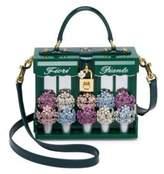 Dolce & Gabbana Fiori Piante Wooden & Leather Top Handle Bag