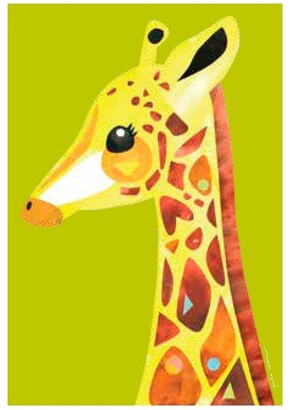 Maxwell & Williams Pete Cromer Wildlife Tea Towel 50x70cm Giraffe