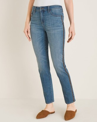 So Slimming Side-Stripe Girlfriend Ankle Jeans