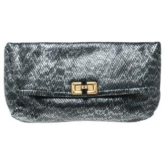Lanvin Happy Grey Leather Clutch bags