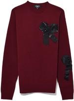 Rochas Oversized Sweater in Medium Red