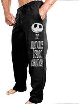 GWJEP Men's Fleece Pant The Nightmare Before Christmas Logo