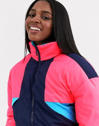 Brave Soul livignio ski jacket in multi colour