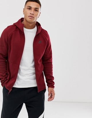 Nike Tech Fleece Hoodie Burgundy-Red