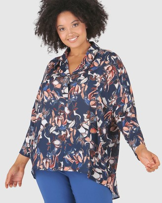 Advocado Plus Longline Blouse