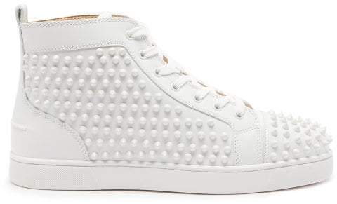 super popular 794a6 c5030 Louis Spiked Leather High Top Trainers - Mens - White
