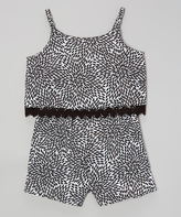 Dollhouse Black & White Romper - Infant Toddler & Girls