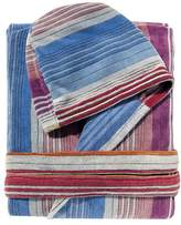 Missoni Home Sunday Hooded Bathrobe, Pink and Blue