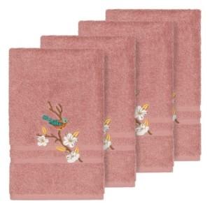 Linum Home Turkish Cotton Springtime 4-Pc. Embellished Hand Towel Set Bedding