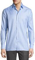 Eton Tonal Jacquard Sport Shirt, Light Blue