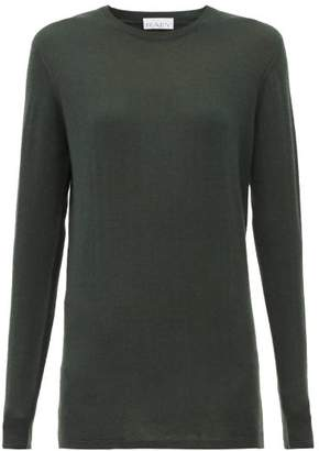 Raey Long Line Fine Knit Cashmere Sweater - Womens - Dark Green