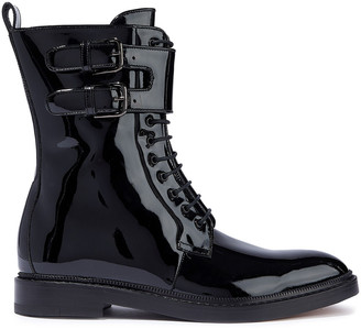 Paul Andrew Landrey Patent-leather Ankle Boots