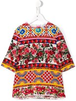 Dolce & Gabbana Mambo print top - kids - Silk/Spandex/Elastane - 8 yrs
