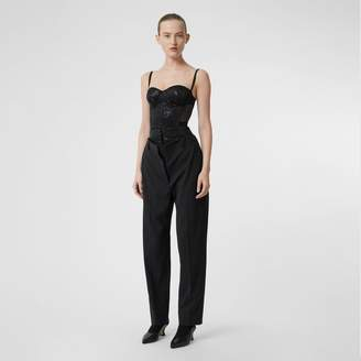 Burberry Mesh Panel Sequinned Bodice