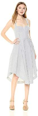 KENDALL + KYLIE Women's Seeersucker Bustier Dress