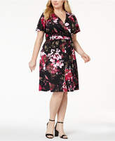 INC International Concepts I.N.C. Plus Size Printed Faux-Wrap Dress, Created for Macy's