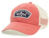 Vineyard Vines Men's Tarpon Patch Trucker Hat - Red