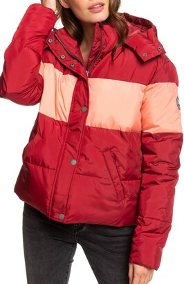Roxy Out of Focus Hooded Puffer Jacket
