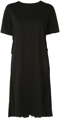 Izzue pleated midi T-shirt dress