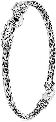 John Hardy 'Legends Naga' sapphire double dragon sterling silver bracelet