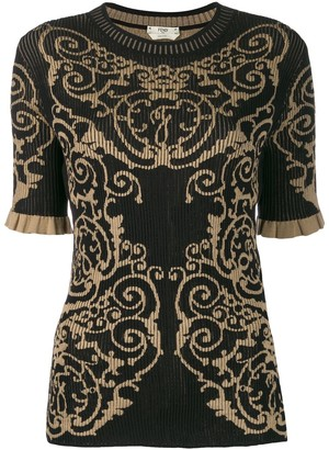 Fendi Knitted Brocade Shirt