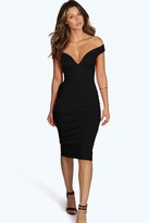 Boohoo Skye Sweetheart Off Shoulder Bodycon Dress