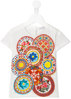 Dolce & Gabbana Caretto Con Rose T-shirt - kids - Cotton - 4 yrs