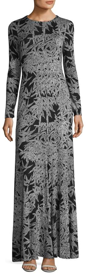 Diane von Furstenberg Women's Silk Print Paneled Maxi Dress