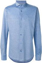 Paul & Shark tonal slim-fit shirt