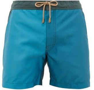 Thorsun Colour-block Swimming Shorts - Mens - Blue Multi