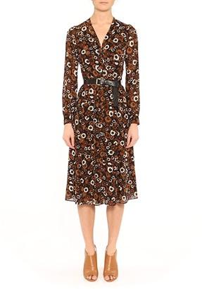 MICHAEL Michael Kors Midi Shirtdress (Caramel) Women's Dress