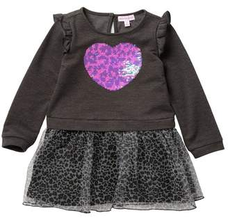 Design History French Terry Tulle Dress (Toddler & Little Girls)