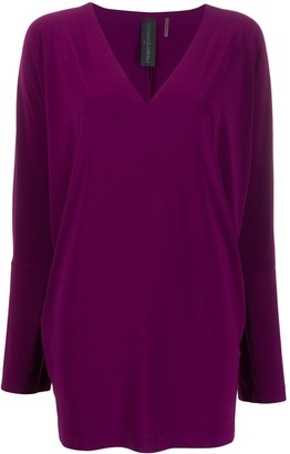 Norma Kamali deep v-neck knitted top