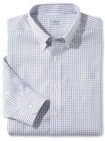L.L. Bean Wrinkle-Free Pinpoint Oxford Shirt, Long-Sleeve Slim Fit Tattersall