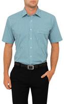 Van Heusen Short Sleeve Tattersal Check Classic Fit Shirt