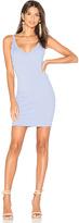 Motel Jade Plunge Dress in Blue