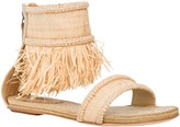 Max Studio Jargon: Ankle-Fringed Sandals